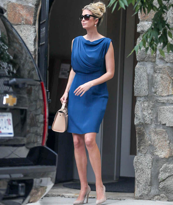 Ivanka Trump flashed her legs as she walked out of the house