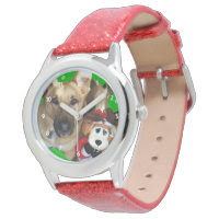 Christmas German Shepherd & Toy Reindeer Wrist Watch