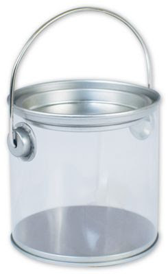 Silver Clear Pails, 3 ' Diameter x 3' High