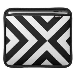 Black and White Chevrons Sleeves For iPads