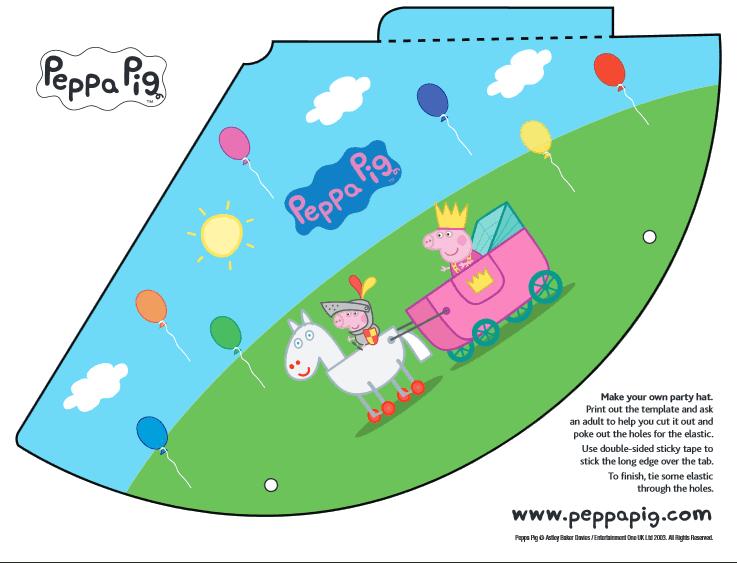 Peppa Pig Party Hat Free Printable