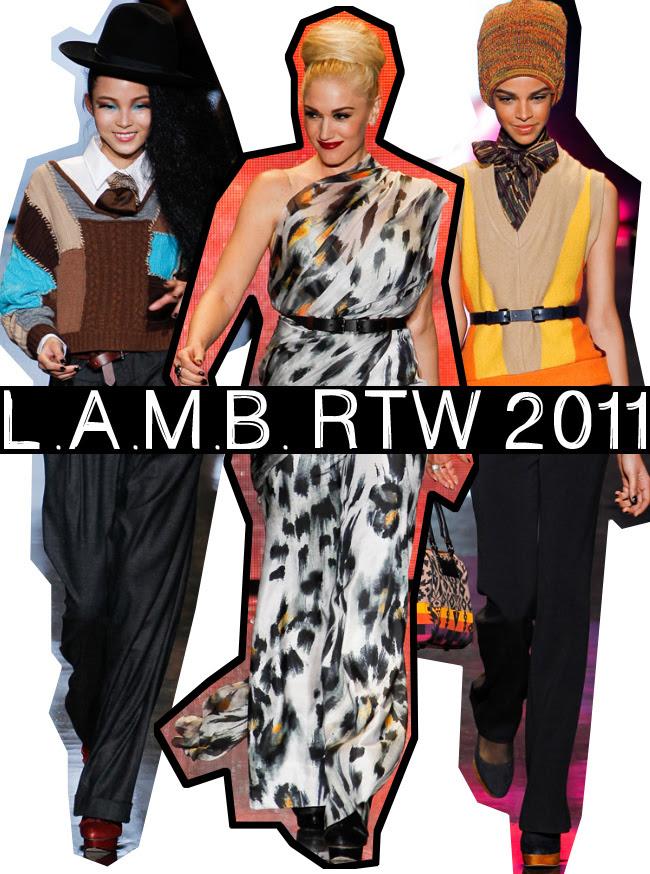 Gwen Stefani, New York Fashion Week, LAMB Fall 2011