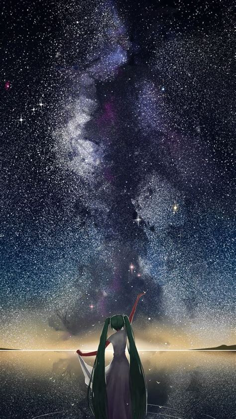 starry sky vocaloid anime iphone wallpapers atmobile