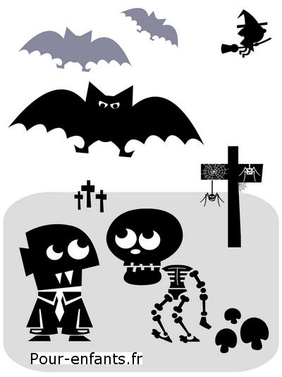 Halloween Poèmes enfants Dessin