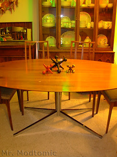 Florence Knoll table and Broyhill Brasilia Chairs - China Cabinet - Buffet 06