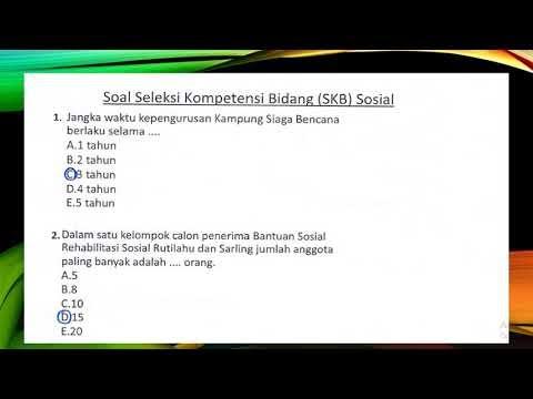 Soal SKB Sosial CPNS 2019