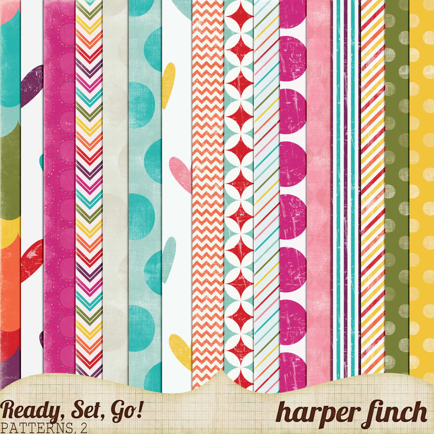 Ready, Set, Go! Series, Patterned Papers 2 by harperfinch