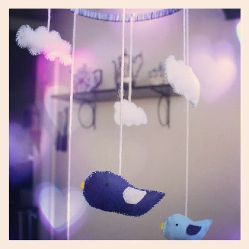 I made a mobile for my nephew. #babyshower