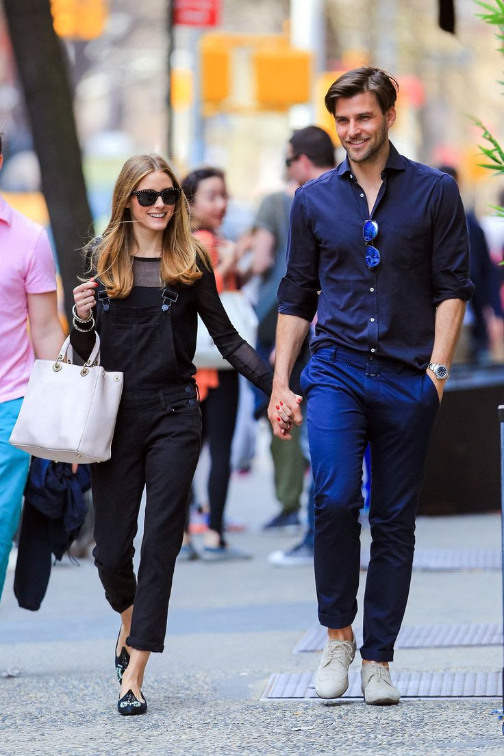 Olivia Palermo shows off her spin on overalls