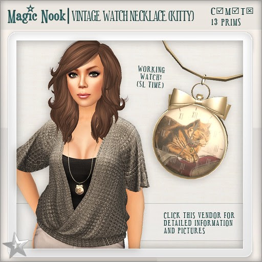 [MAGIC NOOK] Vintage Watch Necklace (Kitty)