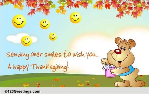 Thanksgiving Smileys! Free Friends eCards, Greeting Cards