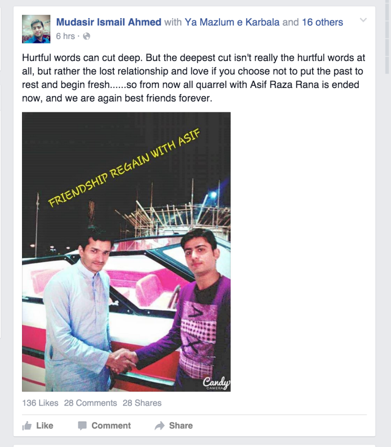Update Facebook User Asif Regains Friendship With Scorned Ex Best