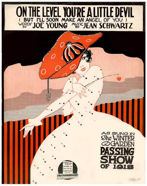On The Level, music poster, 1918