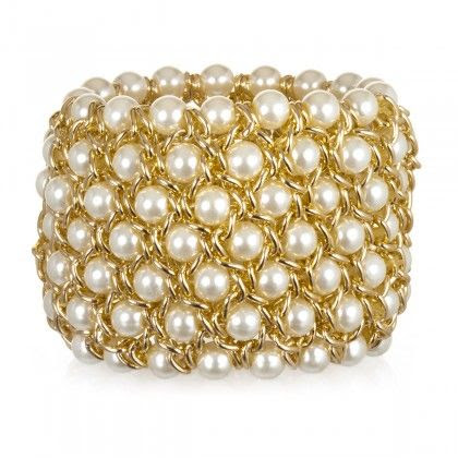 Pearl and Gold cuff bracelet | Cool Mom Picks