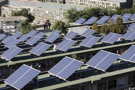 energia solar no cemitério