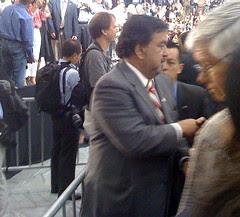 Richardson leaving Obama event
