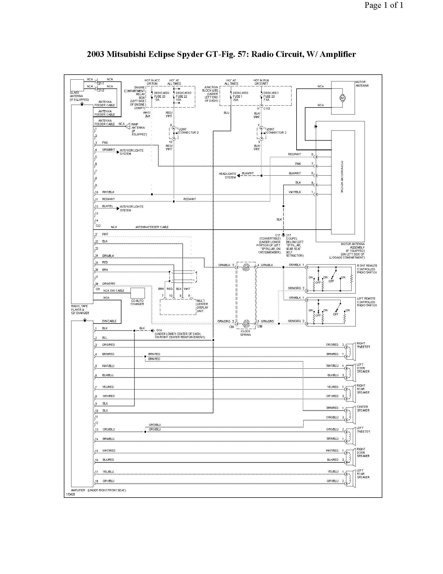 1999 Mitsubishi Eclipse Spyder Radio Wiring Diagram 2003 Grand Am Wiring Diagram Controlwiring Corolla Waystar Fr