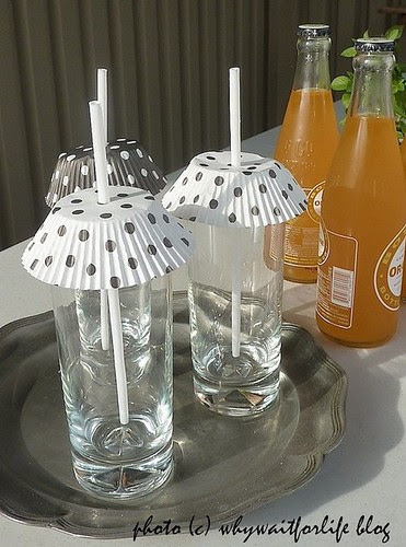 Great idea for those drinks outside to keep the bugs out