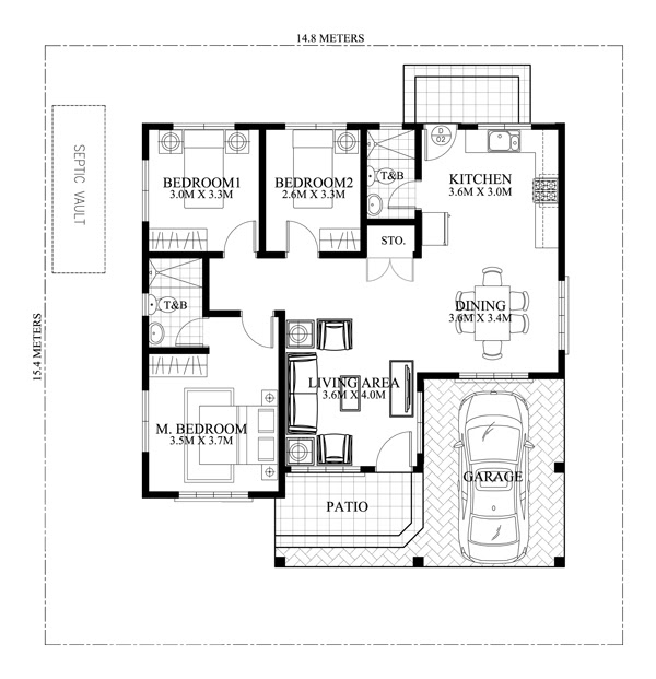 Clarissa - One Story House with Elegance (SHD-2015020 ...
