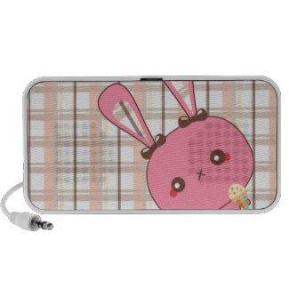 Peek A Boo Bunny Doodle Speaker doodle