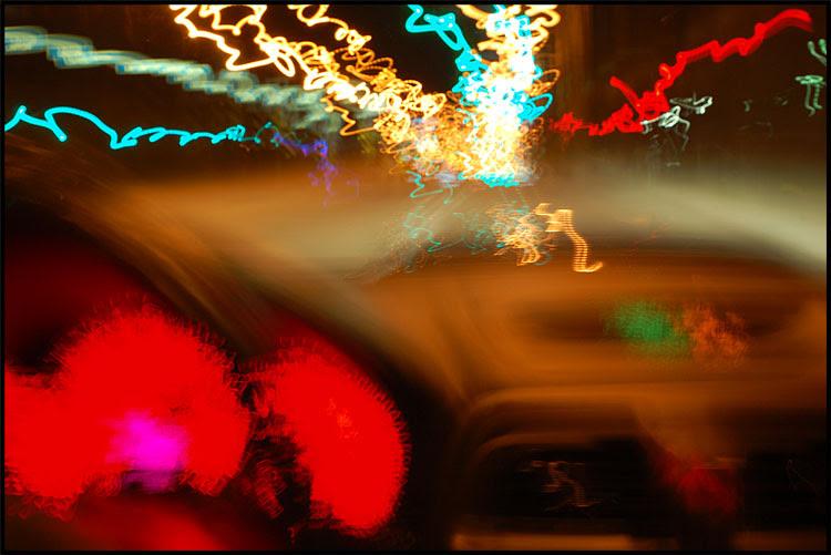 Subaru STI at Night