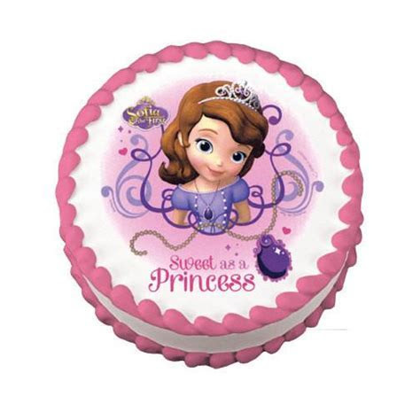 Sofia the First Edible Cake Topper on Frosting Paper
