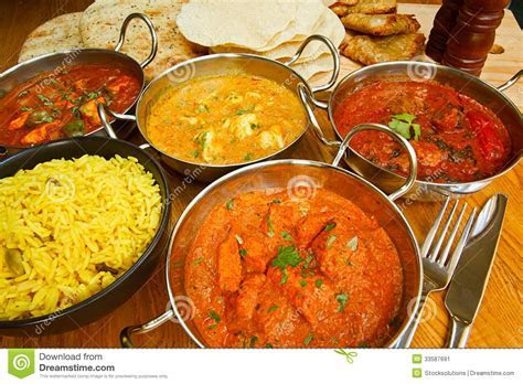 Indian cuisine buffet stock image. Image of range, gourmet