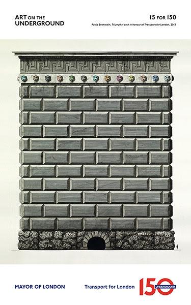 London Underground poster: Pablo Bronstein