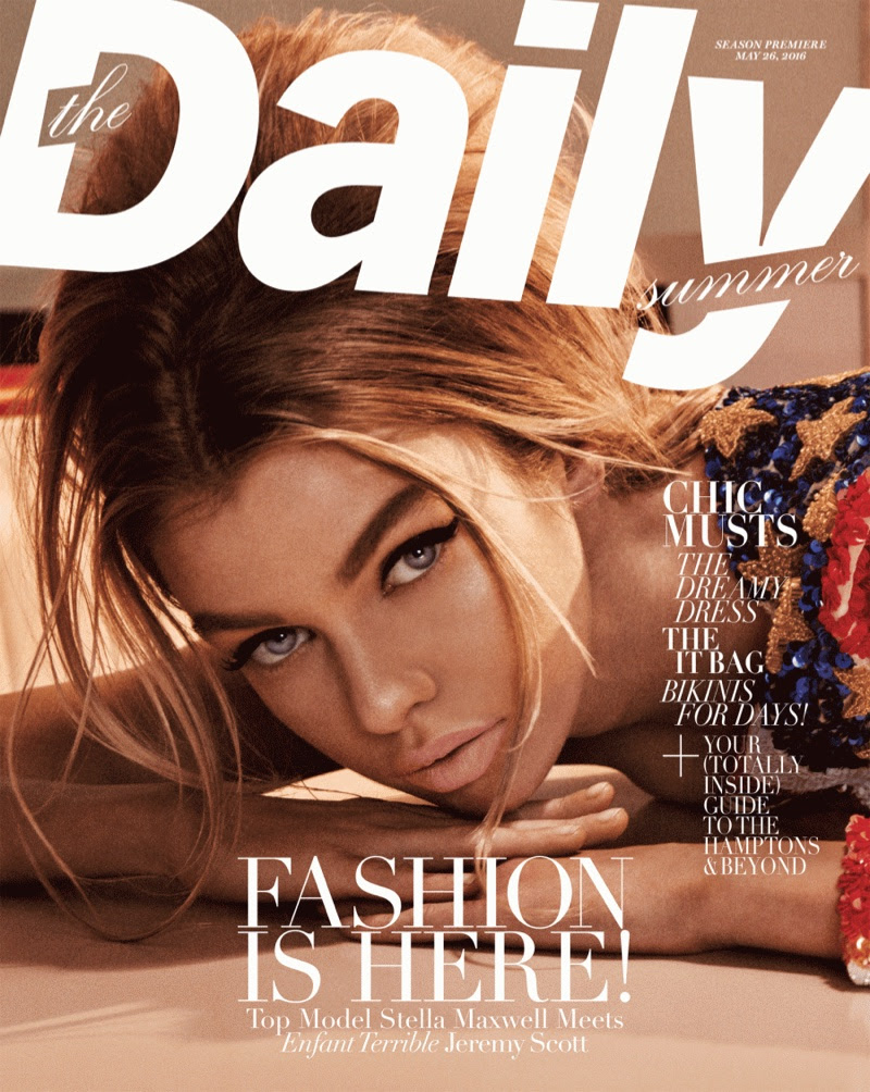 Stella Maxwell on The Daily Summer 2016 Cover