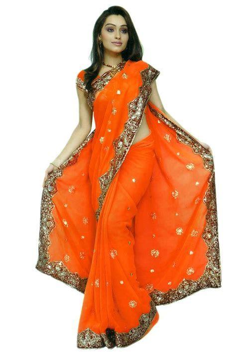 Details about Orange Bridal Designer Wedding Sequin