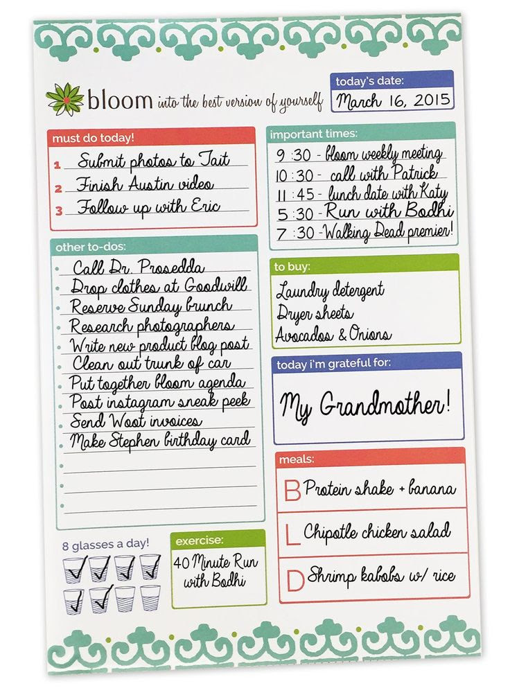 Amazon.com : bloom daily planners Planning System Tear Off To Do ...