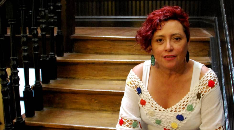 Montserrat Arévalo, de Mujeres Transformando (El Salvador), en su reciente visita a Bilbao.