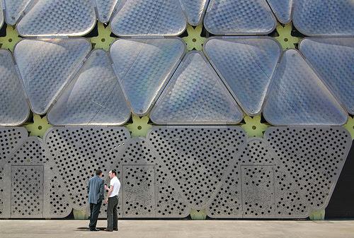 Detalle del Etfe, Edificio Media-TIC, 22@, Barcelona