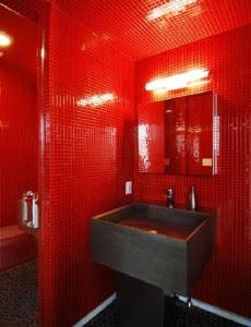 Kleur In Het Interieur Rode Badkameraccessoires
