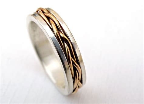 buy  custom  celtic wedding band men gold braided