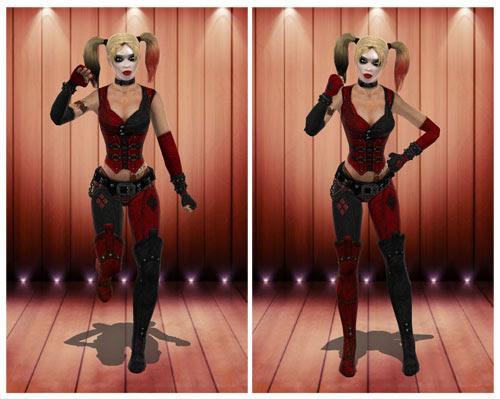 MMD Harley Quinn Arkham City