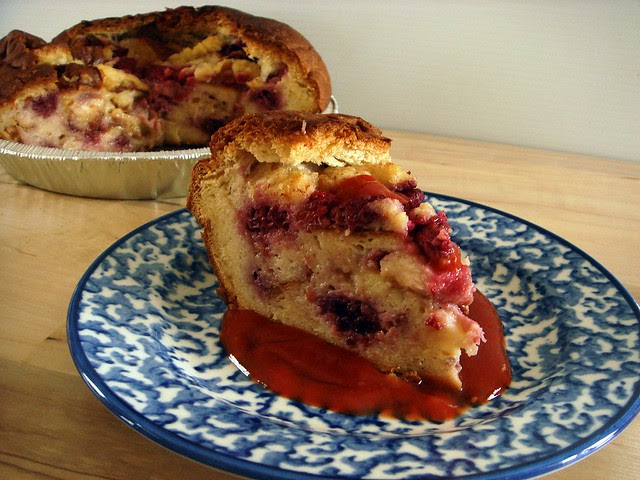 King's Hawaiian Raspberry Bread Pudding Bowl