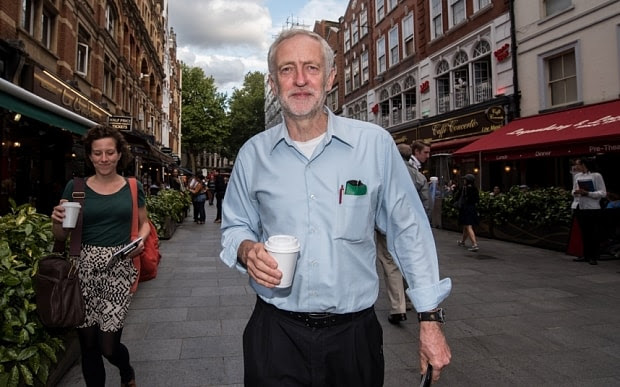 Jeremy Corbyn wears vests