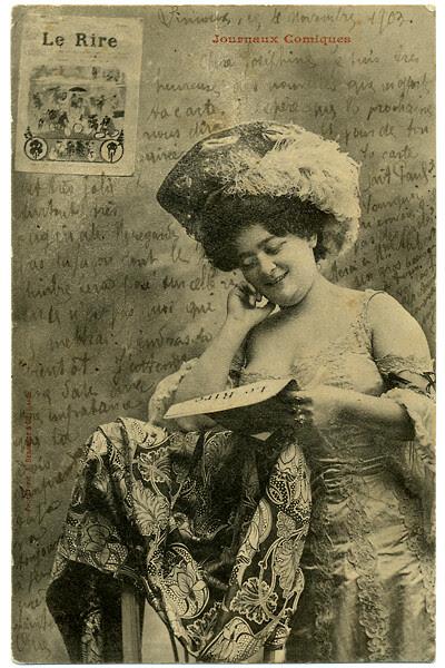 2010_1905_postcard_Josephine Reading Le Rire_400