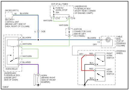 Acura integra horn wiring diagram