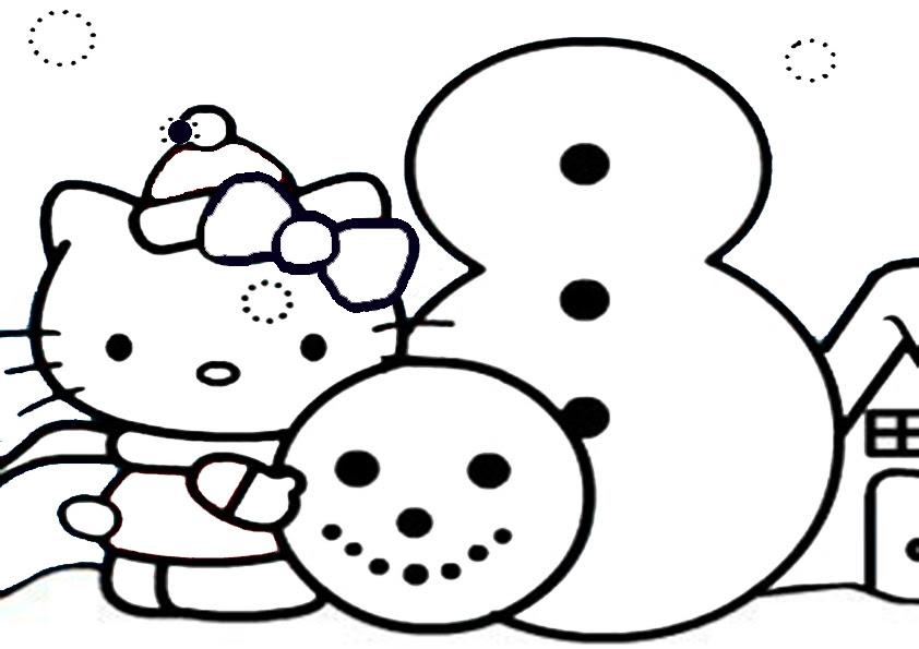 hello kitty ausmalbilder weihnachten  weihnachten 36