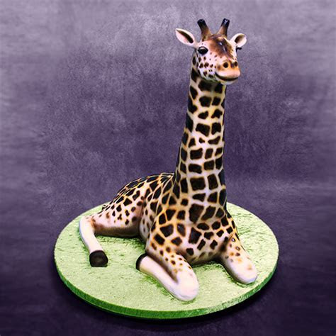 How the 3D Giraffe Cake was Made   Yeners Way