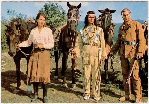 Karin Dor, Lex Barker, Pierre Brice in Der Schatz im Silbersee