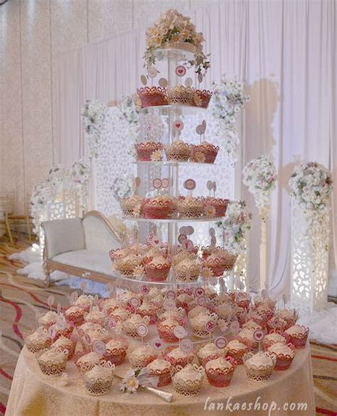 Cup Cake Wedding Cakes with Laser Cut Wrapper   Sri Lanka