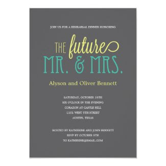 Future Mr and Mrs Rehearsal Dinner /Wedding Shower Custom Invitations