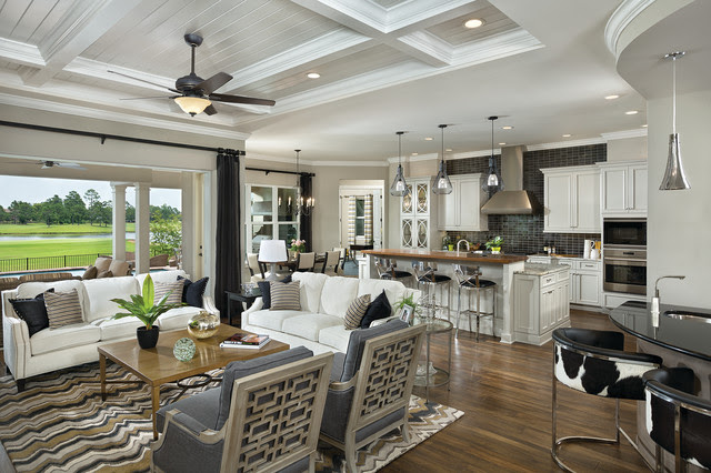 The Images Collection of Model home living room decor in ...