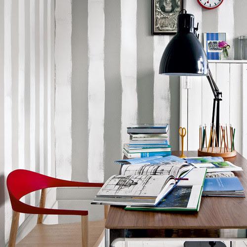 1_stripey home office interior design ideas via housetohome.co.uk
