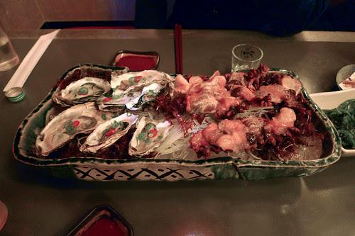 Seoul 2009 - Oysters and Sea Squirts - Seoul Izakaya