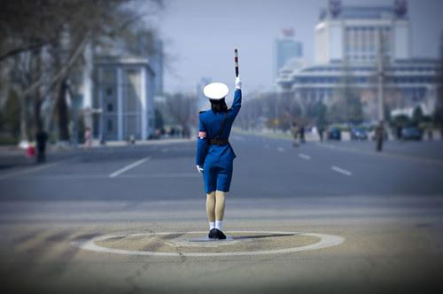 Pyongyang Capital da Coreia do Norte - Fácil controle do trânsito