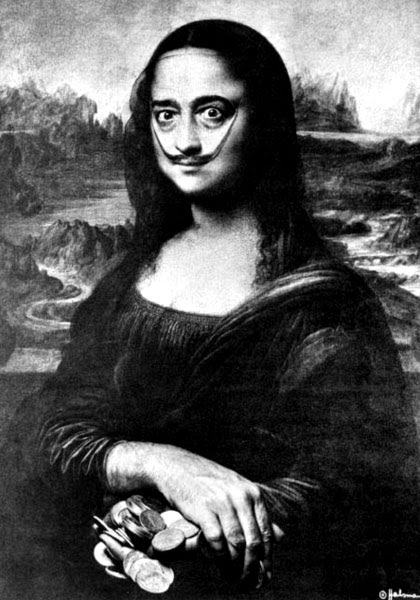 Salvador Dali Self-portrait as Mona Lisa